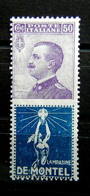 1925 Italy rare advertising stamp 50 cts MH De Montel