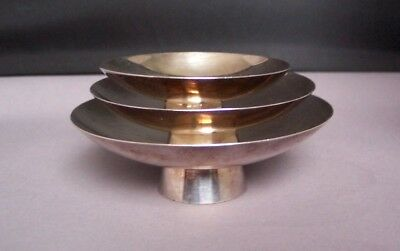 3 Japanese Sterling Silver Stacking Bowls
