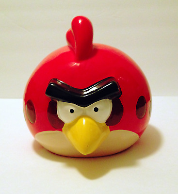 Angry Birds Red Coin Piggy Bank Ceramic Large Rovio Discontinued 2012