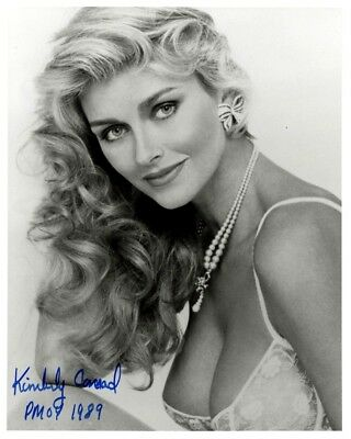 1989 Playmate / Year Kimberly Conrad (Hefner) Autographed Official Playboy 8x10