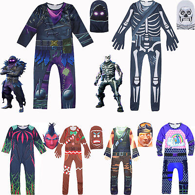 Halloween Party Kostüm Jumpsuit Overall Cosplay Fortnite Spiele Kinder Outfits