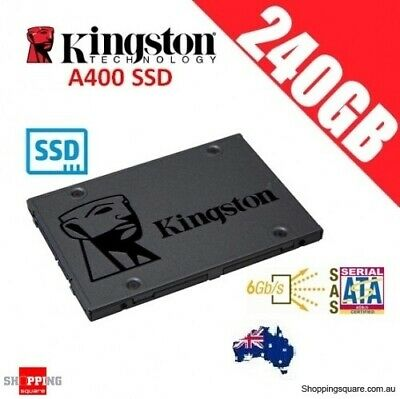 Kingston A400 SSD 240GB Solid State Drive SATA 3 6GB/s 500MB/s PC Laptop Storage