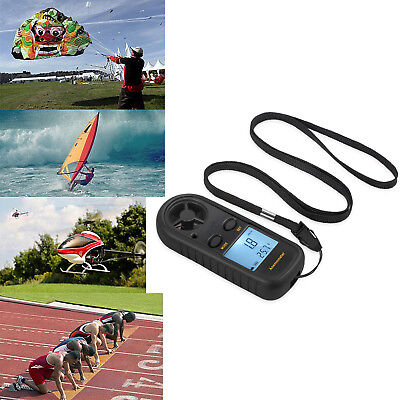 Digital LCD Anemometer Thermomoter Handheld Wind Speed Meter For Sailing Surfing
