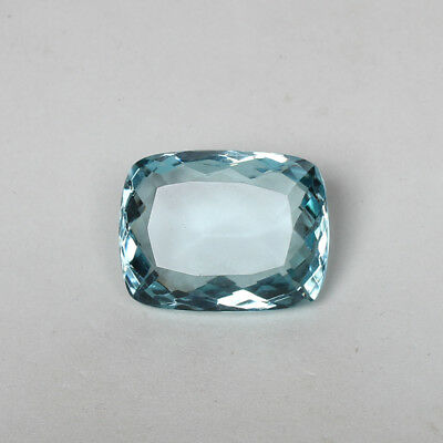 49.25 Ct. Natural Aquamarine Greenish Blue Color Cushion Cut Loose Gemstone