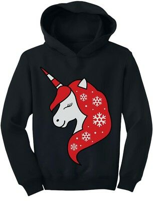 Christmas Unicorn Holiday Girls Xmas Outfit Toddler Hoodie Gift Idea