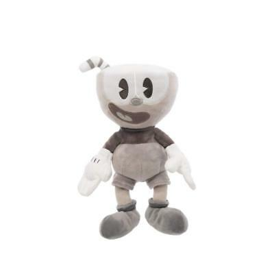 """New Authentic Cuphead Black and White 8"""" Plush Toy"""