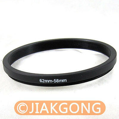 62mm-58mm 62-58 Step Down Filter Ring Stepping Adapter