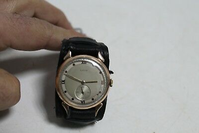 Antique Vintage Old German Made Laco Gold Plated  Men's Wrist Watch.