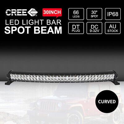 30inch Curved CREE LED Light Bar Two Rows Spot Beam 198000LM Work Driving 4x4