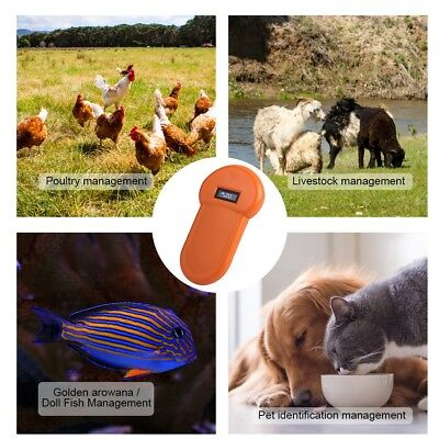 134.2Khz LCD ISO ID Chip Animal Reader RFID Dog Microchip Handheld Pet Scanner