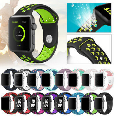 Silicone Wrist Sport Band Strap For Apple Watch 40mm 44mm Series 4/3/2/1 38 42mm
