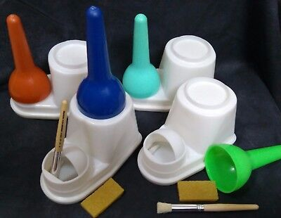 Glue Container Set with Brush and Eraser Leather Craft