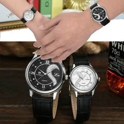 Pair of Lovers Men Women Ultrathin Leather Romantic Fashion Couple Wrist Watches