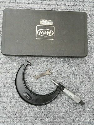 Moore & Wright carbide tipped micrometer 75mm-100mm