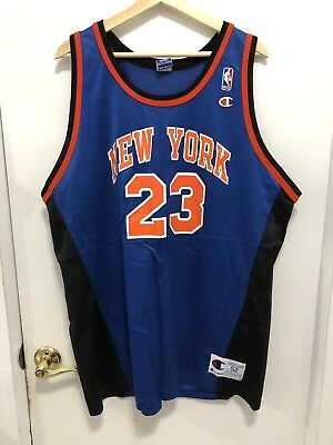 8c2169eee VINTAGE CHAMPION NEW York Knicks Marcus Camby Jersey Size 48 XL NBA ...