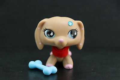 Littlest Pet Shop LPS Dachshund Dog #909 Toy + LPS Accessories Christmas Gifts