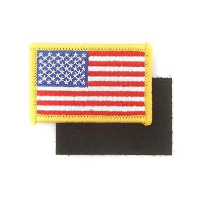 American Flag Embroidered Patch White US Iron-on USA  Military Uniform Shoulder