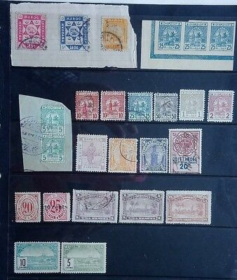 Morocco / Tangier / Saffi / Marakech 1896 Onwards 25 Local Post / Tax Stamps