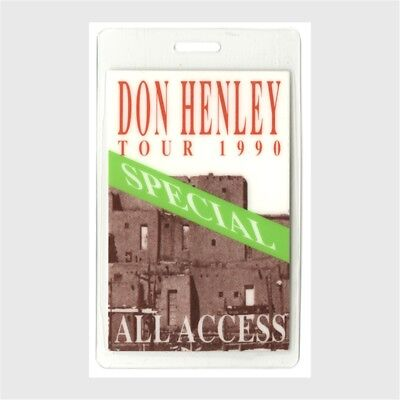 Don Henley authentic 1990 concert tour Laminated Backstage Pass The Eagles