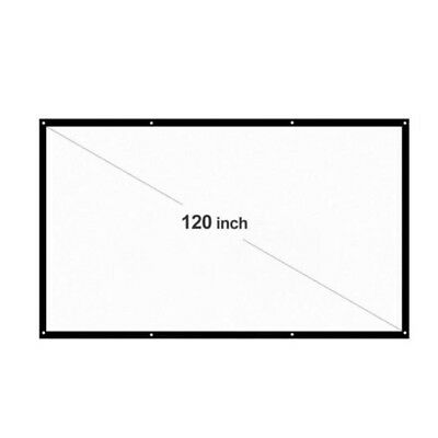 100 inch 16:9 Projection Screen with Frame HD Portable for Home Outdoor Meeting