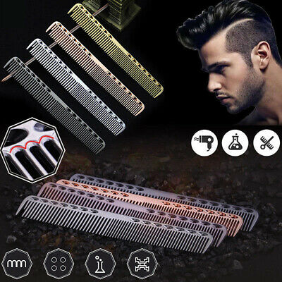 Aluminum Metal Cutting Comb Hair Hairdressing & Barbers Salon Professional Combs