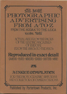 Still More Photographic Advertising from A to Z  volume III L117