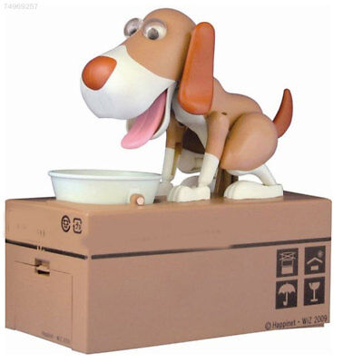 Quality Puppy Hungry Robotic Eating Dog Coin Bank Money Saving Box Collection
