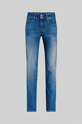 Salsa Push In Secret High Waist Soft Touch stretch jeans mid blue wash. RRP £105