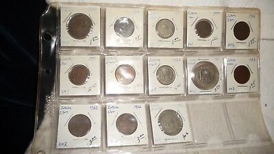 #11/5L  vtg LOT 13  FOREIGN COINS LATVIA   MIXED YEARS