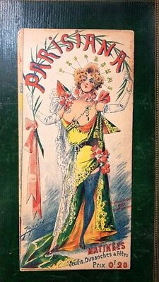 Programme du Music Hall Parisiana du 10 mai 1898 Paris belle époque