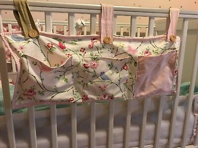 Baby Cot Bed Crib Hanging Storage Bag Toy Pocket Organiser -Clarke&Clarke Fabric
