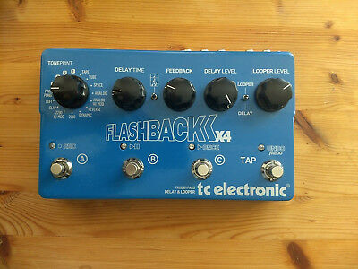 tc electronic Flashback x4 True Bypass Delay & Looper sehr guter Zustand