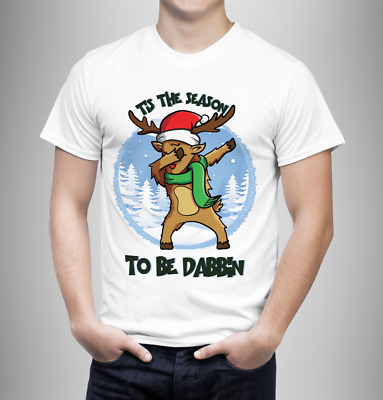 dabbing reindeer adults T-shirt male/ female Christmas gift/ funny T-shirt xmas