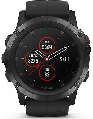 GARMIN Fenix 5X PLUS GPS Sapphire Edition Ultimate Smartwatch 51MM 010-01989-01