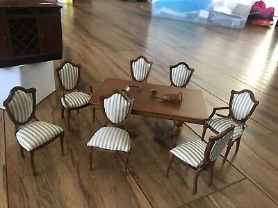 1:12 Dollhouse Bespaq French Provincial Dining Room Lot