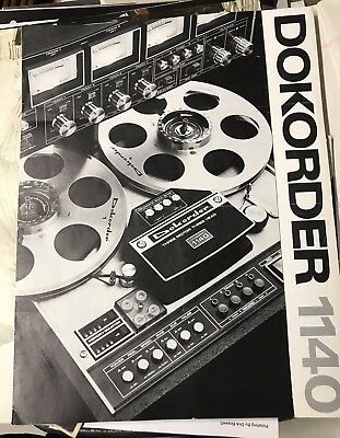 DOKORDER 1140 Reel To Reel Tape Recorder Sales Brochure Trifold very good