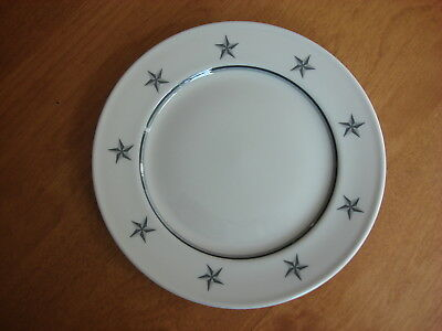 "Ss United States Lines Salad Dishes  (3)    7 3/4"" Gray Star Pattern"