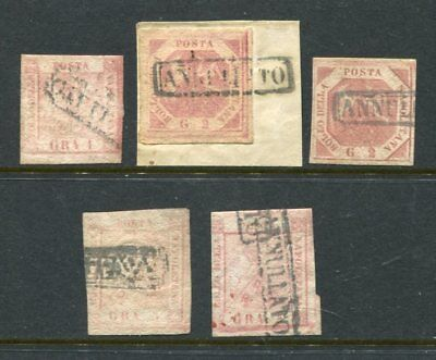 NAPOLI NAPLES ITALIAN STATES used lot to 5gr 5 stamps