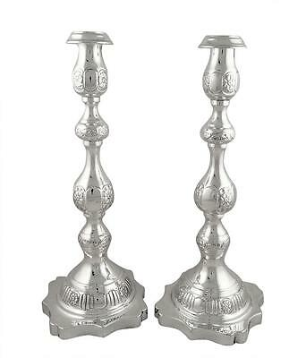 "Pair Antique Sterling Silver 12"" Candlesticks - 1931"
