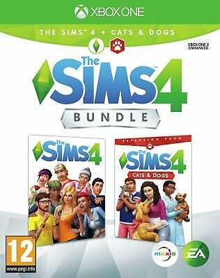 The Sims 4 & Cats and Dogs Expansion Bundle Microsoft Xbox One Game 12+ Years