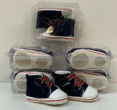 Baby Shoes Booties wholesale 6 pair Assorted sizes blue white boys girls