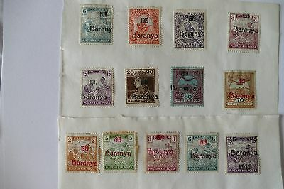 13X 1919 Baranya overprint Hungarian postage stamps (MINT UNUSED)