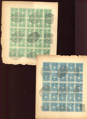 TOSCANA TUSCANY ITALIAN STATES CINDERELLA Used SHEETS of 25 Stamps (6)