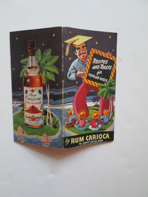 RUM CARIOCA mixed drink and canapes recipe booklet 1942