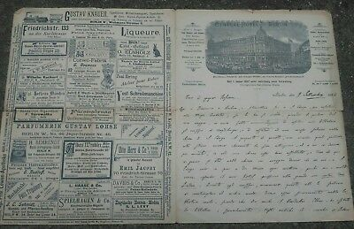 1894 Letter By Don Pietro Samantha From Lecco On Energy Alternative And Berlin