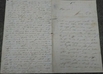 1859 Letter D'love Actress Clementine Carter From Livorno To Tommaso Salvini