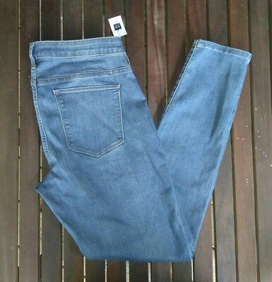 New GAP Maternity Inset Panel True Skinny Jeans Size 12R 12