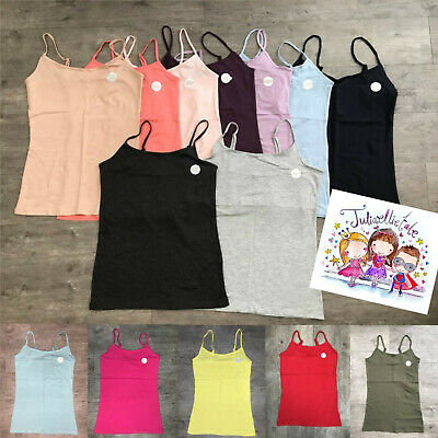Primark NEW SIZING Ladies Womens Girls Stretch Cami Vest Strap Top Size 4 - 24