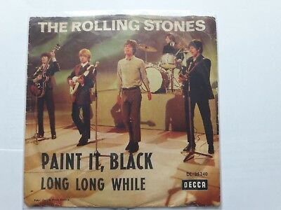 """7"""" The Rolling Stones - paint it, black / long long while"""