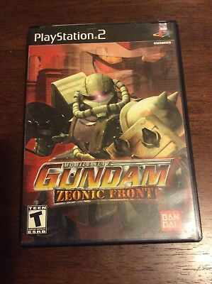 Mobile Suit Gundam: Zeonic Front COMPLETE *Tested (Sony PlayStation 2, 2002) PS2